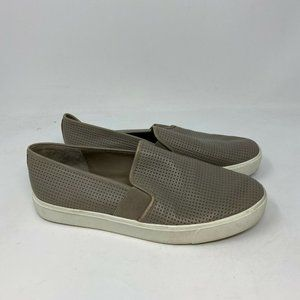 Vince Blair Perforated Leather Slip-On Sneakers 8